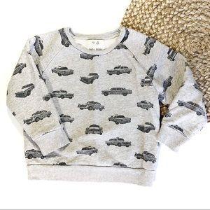 Zara Boys | Size 6 Gray Cars Crewneck Sweatshirt